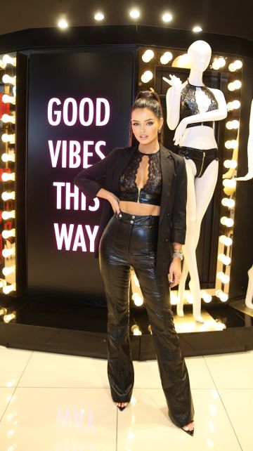 Ann Summers delighted Blanchardstown shoppers this weekend with a guest appearance by Maura Higgins who is the face of their latest 'Be More Maura' lingerie campaign. Photograph: Leon Farrell / Photocall Ireland