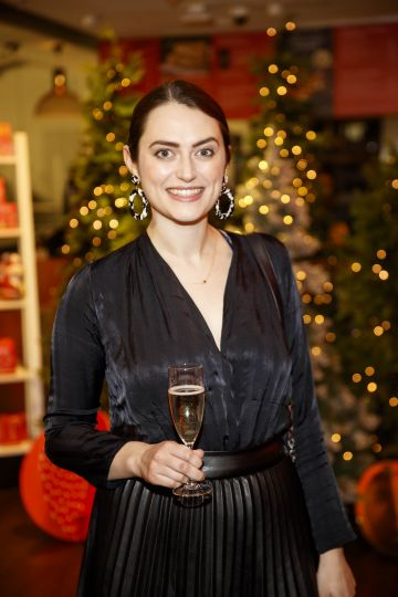 Roisin Healy pictured at the M&S Christmas Market inspired press show in the M&S Rooftop Café,  Grafton Street to celebrate the M&S Christmas food collection. Picture: Andres Poveda