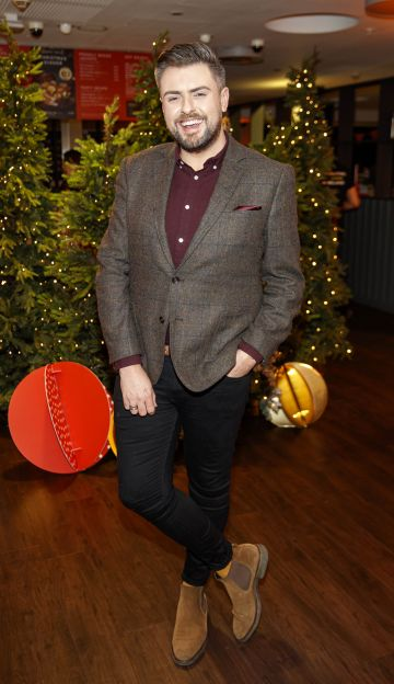 James Patrice pictured at the M&S Christmas Market inspired press show in the M&S Rooftop Café,  Grafton Street to celebrate the M&S Christmas food collection. Picture: Andres Poveda