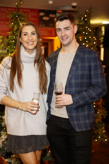 Clementine MacNeice and Jamie Lynch pictured at the M&S Christmas Market inspired press show in the M&S Rooftop Café,  Grafton Street to celebrate the M&S Christmas food collection. Picture: Andres Poveda