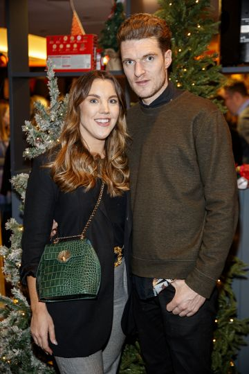 Sarah Hanrahan and Sean McNamee pictured at the M&S Christmas Market inspired press show in the M&S Rooftop Café,  Grafton Street to celebrate the M&S Christmas food collection. Picture: Andres Poveda