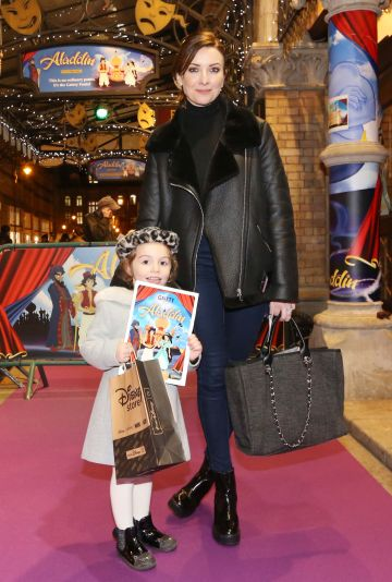 Pictured is Jennifer and her daughter Florence Zamparelli at the official opening of the Gaiety Theatre Christmas Panto, Aladdin. Aladdin opens at the Gaiety Theatre Sunday 24th November. Photo: Sasko Lazarov/Photocall Ireland