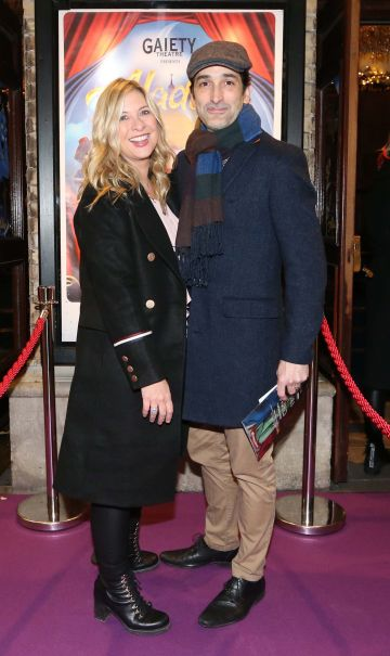 Pictured are (LtoR) Laura Woods and Alex Arigho at the official opening of the Gaiety Theatre Christmas Panto, Aladdin. Aladdin opens at the Gaiety Theatre Sunday 24th November. Photo: Sasko Lazarov/Photocall Ireland