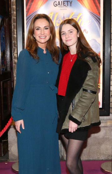 Pictured are (LtoR) Lorraine Keane and Romy Devlin at the official opening of the Gaiety Theatre Christmas Panto, Aladdin. Aladdin opens at the Gaiety Theatre Sunday 24th November. Photo: Sasko Lazarov/Photocall Ireland
