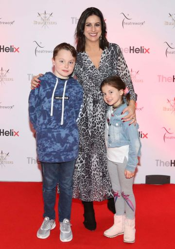 Pictured are Lucy (centre), Jack and Holly Kennedy at the opening night of The Three Musketeers at The Helix.  Photo: Sasko Lazarov/Photocall Ireland
