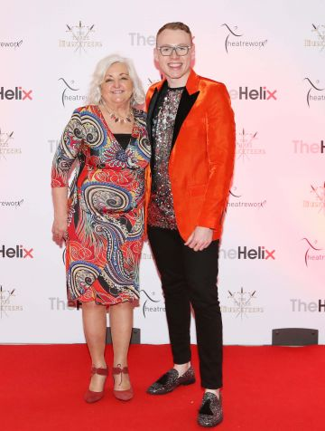 Pictured are (LtoR) Colette Conway and David Donnelly at the opening night of The Three Musketeers at The Helix.  Photo: Sasko Lazarov/Photocall Ireland
