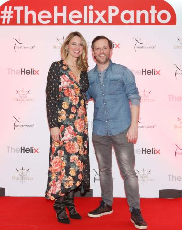 Pictured are (LtoR) Claire Tighe and Karl Harpur at the opening night of The Three Musketeers at The Helix.  Photo: Sasko Lazarov/Photocall Ireland
