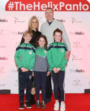 Pictured are (LtoR) Henry and Deirdre Shefflin and kids Henry, Sadhbh and Suin at the opening night of The Three Musketeers at The Helix.  Photo: Sasko Lazarov/Photocall Ireland
