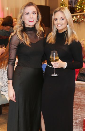 Pictured at the fun filled Christmas afternoon tea at The Morrison Hotel were Jessica O'Connor and Kelly Coffey. Photograph: Leon Farrell / Photocall Ireland