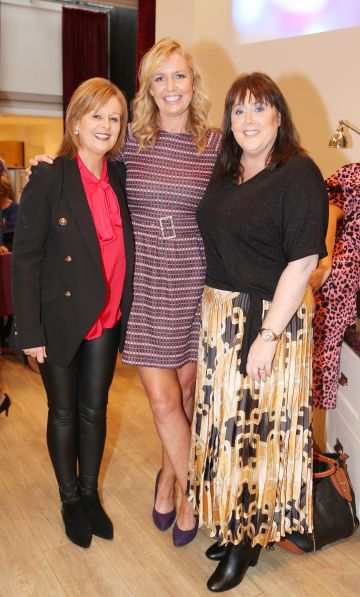 Pictured at the fun filled Christmas afternoon tea at The Morrison Hotel were Lorraine Costigan, Sharon Lyon & Caroline Connolly. Photograph: Leon Farrell / Photocall Ireland