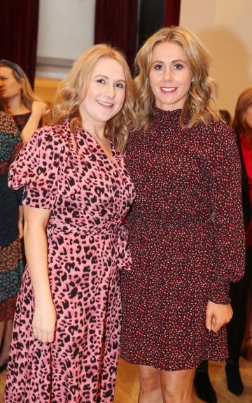 Pictured at the fun filled Christmas afternoon tea at The Morrison Hotel were Emer Graham and Norma Kavanagh. Photograph: Leon Farrell / Photocall Ireland