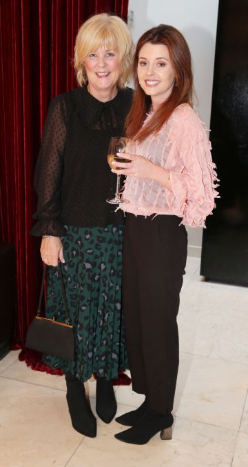 Pictured at the fun filled Christmas afternoon tea at The Morrison Hotel were Nuala Curly and Lucy Curley. Photograph: Leon Farrell / Photocall Ireland