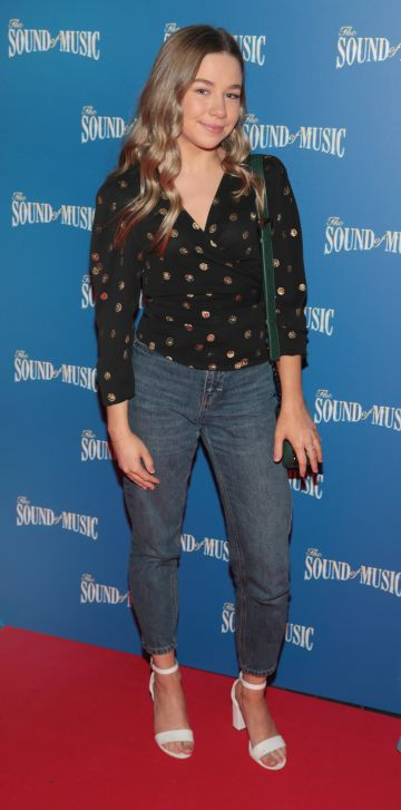 Charlotte Patten pictured at the opening night of The Sound of Music at the Bord Gais Energy Theatre, Dublin. Pic Brian McEvoy