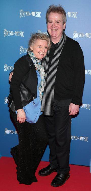 Rebecca Storm and husband Kenny Shearer pictured at the opening night of The Sound of Music at the Bord Gais Energy Theatre, Dublin. Pic Brian McEvoy