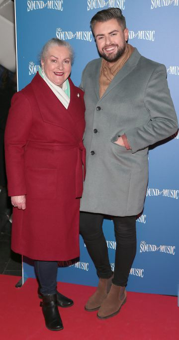 Fron Butler and James Butler pictured at the opening night of The Sound of Music at the Bord Gais Energy Theatre, Dublin. Pic Brian McEvoy