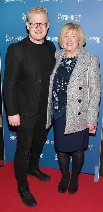 Steven Cooper and Gina Simpson  pictured at the opening night of The Sound of Music at the Bord Gais Energy Theatre, Dublin. Pic Brian McEvoy