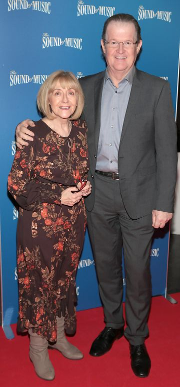 Billie Morton and Aoghus McAnally  pictured at the opening night of The Sound of Music at the Bord Gais Energy Theatre, Dublin. Pic Brian McEvoy
