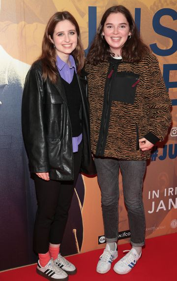 Kathryn Hughes and Roisin Lavelle at the special preview screening of Just Mercy at the Lighthouse Cinema, Dublin. Pic Brian McEvoy