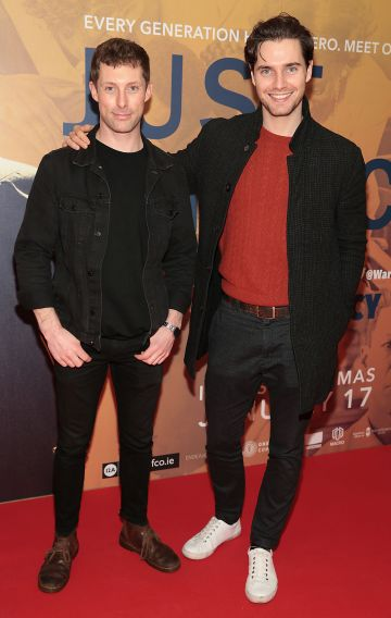 Tony Gray and Barry Donohue at the special preview screening of Just Mercy at the Lighthouse Cinema, Dublin. Pic Brian McEvoy