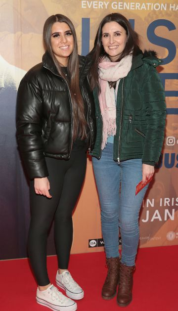 Vanessa Dobie and Mona Pavel at the special preview screening of Just Mercy at the Lighthouse Cinema, Dublin. Pic Brian McEvoy