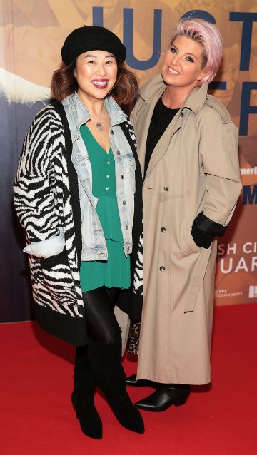 Judy Wong and Timea Stoilowa at the special preview screening of Just Mercy at the Lighthouse Cinema, Dublin. Pic Brian McEvoy