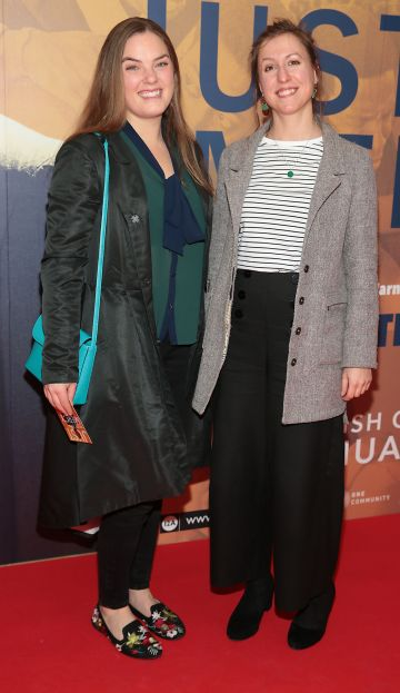 Laurence Bolduc and Maggie Kobik at the special preview screening of Just Mercy at the Lighthouse Cinema, Dublin. Pic Brian McEvoy