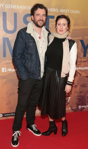 Kevin McGahern and his wife Siobhan McGahern at the special preview screening of Just Mercy at the Lighthouse Cinema, Dublin. Pic Brian McEvoy