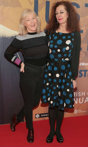 Clodagh Collins and Linda Dagge at the special preview screening of Just Mercy at the Lighthouse Cinema, Dublin. Pic Brian McEvoy