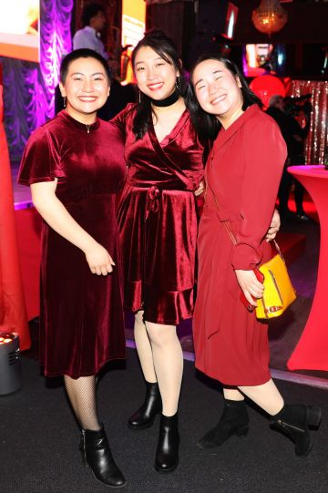 Pictured last night were Waiyee Look, CheeKeong Look and Cindy Look at the sixth annual Just Eat National Takeaway Awards in Dublin's Twenty Two. Photograph: Leon Farrell / Photocall Ireland