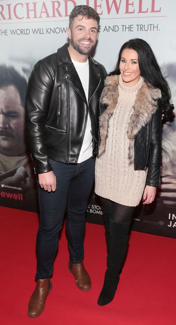 Karl Bowe and Lynn Mulvey pictured at the special preview screening of Richard Jewell at Cineworld, Dublin. Pic: Brian McEvoy