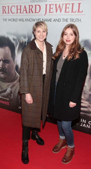Niamh Algar and Seana Kerslake pictured at the special preview screening of Richard Jewell at Cineworld, Dublin. Pic: Brian McEvoy