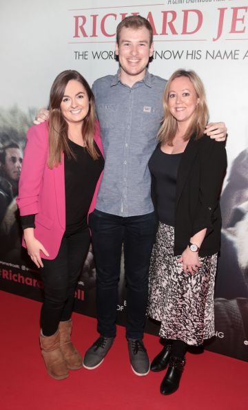 Lynne Holland, Peter Behan ,Amy Cosgrave pictured at the special preview screening of Richard Jewell at Cineworld, Dublin. Pic: Brian McEvoy