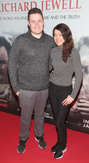 Stephen Leonard and Jenny Leonard pictured at the special preview screening of Richard Jewell at Cineworld, Dublin. Pic: Brian McEvoy