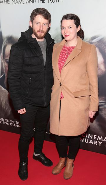 Daragh Bailey and Therese Anglim pictured at the special preview screening of Richard Jewell at Cineworld, Dublin. Pic: Brian McEvoy