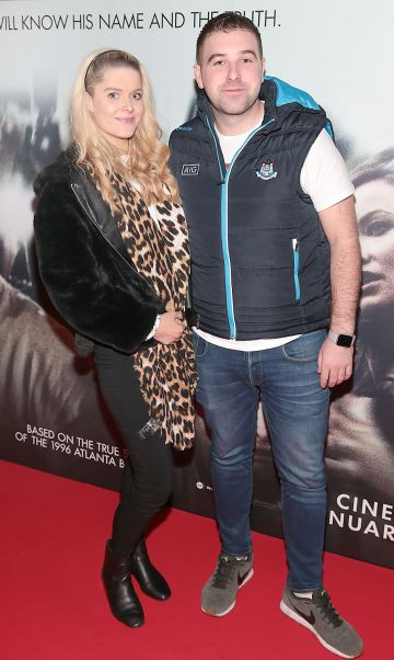 Rachel O Sullivan and Conor Farrelly pictured at the special preview screening of Richard Jewell at Cineworld, Dublin. Pic: Brian McEvoy