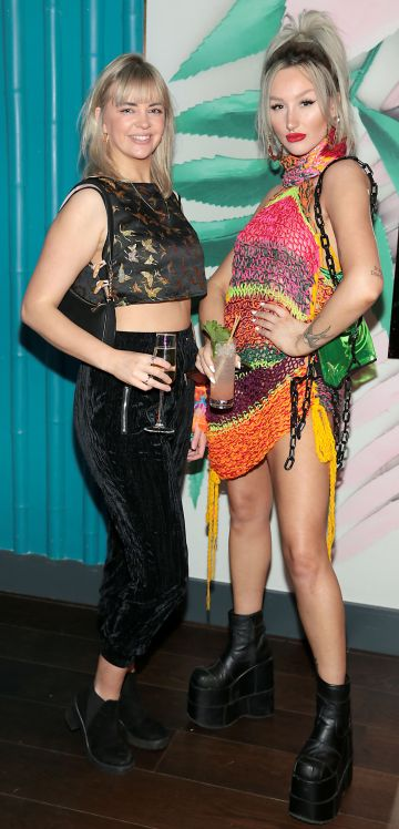 Thea Shannon and Jess Brennan pictured at the opening of Ohana in Harcourt Street, Dublin. Pic: Brian McEvoy