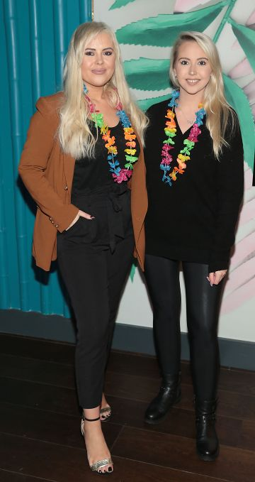 Ali Ryan and Kendra Becker pictured at the opening of Ohana in Harcourt Street, Dublin. Pic: Brian McEvoy