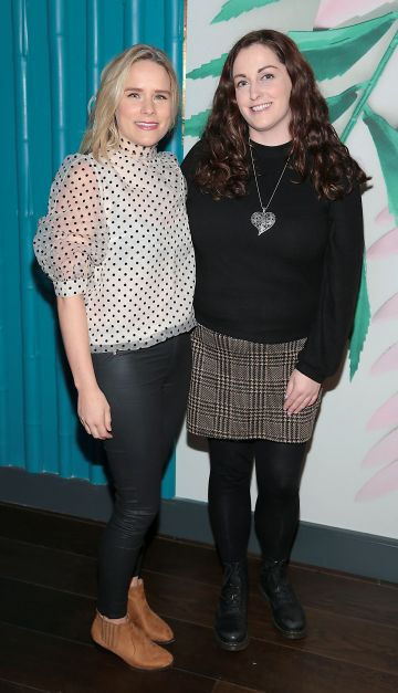 Amy Curran and Fiona Flynn pictured at the opening of Ohana in Harcourt Street, Dublin. Pic: Brian McEvoy