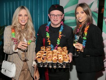 Hannah Saunders, Colin Mulcahy and Ali Leddin  pictured at the opening of Ohana in Harcourt Street, Dublin. Pic: Brian McEvoy