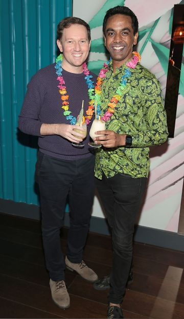 David Mitchell and Clint Drieberg pictured at the opening of Ohana in Harcourt Street, Dublin. Pic: Brian McEvoy