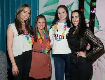 Ali Leddin,Amy Cope, Siobhan Byrne and Stephanie McGovern pictured at the opening of Ohana in Harcourt Street, Dublin. Pic: Brian McEvoy
