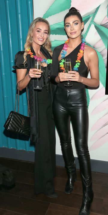 Camerin O Connor and Lauren Mahon pictured at the opening of Ohana in Harcourt Street, Dublin. Pic: Brian McEvoy