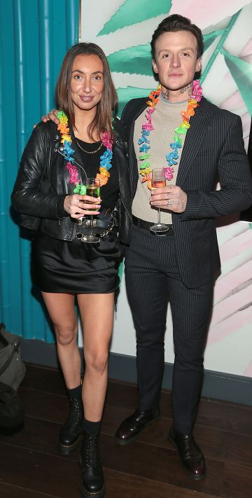 Lindsay Hamilton and Jimmy Diego pictured at the opening of Ohana in Harcourt Street, Dublin. Pic: Brian McEvoy