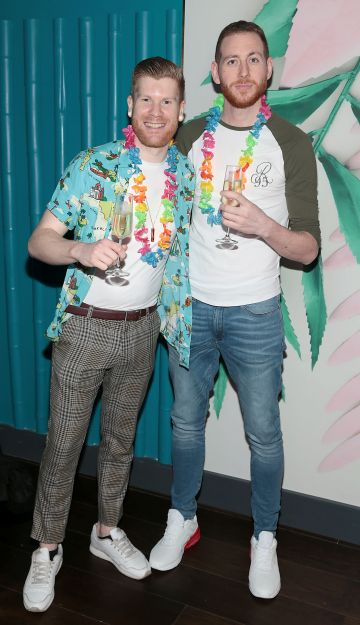 Pete Ungless and Bob Dowling pictured at the opening of Ohana in Harcourt Street,Dublin. Pic: Brian McEvoy