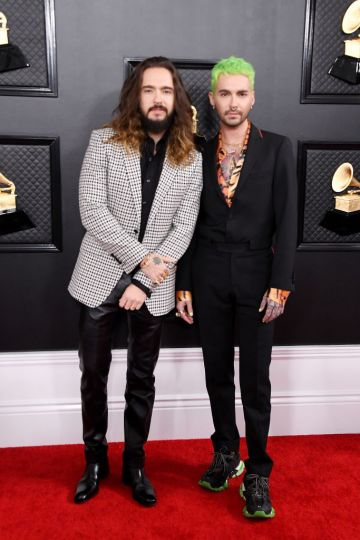 (L-R) Tom Kaulitz and Bill Kaulitz attend the 62nd Annual GRAMMY Awards at Staples Center on January 26, 2020 in Los Angeles, California. (Photo by Steve Granitz/WireImage)