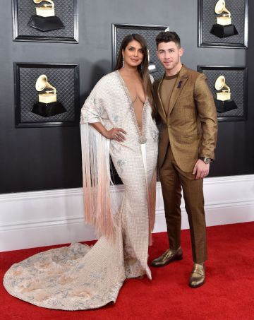 Priyanka Chopra Jonas and Nick Jonas attend the 62nd Annual GRAMMY Awards at Staples Center on January 26, 2020 in Los Angeles, California. (Photo by Axelle/Bauer-Griffin/FilmMagic)
