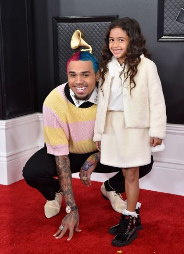 Chris Brown and Royalty Brown attend the 62nd Annual GRAMMY Awards at Staples Center on January 26, 2020 in Los Angeles, California. (Photo by Axelle/Bauer-Griffin/FilmMagic)
