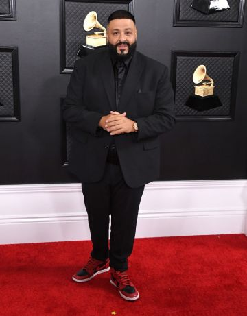 DJ Khaled arrives at the 62nd Annual GRAMMY Awards at Staples Center on January 26, 2020 in Los Angeles, California. (Photo by Steve Granitz/WireImage)