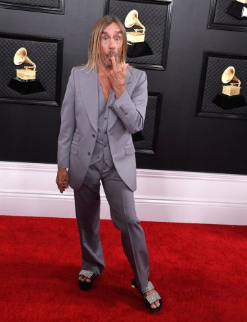 Iggy Pop arrives at the 62nd Annual GRAMMY Awards at Staples Center on January 26, 2020 in Los Angeles, California. (Photo by Steve Granitz/WireImage)