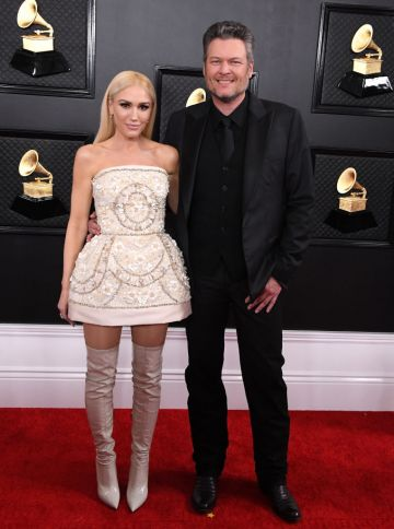 Gwen Stefani and Blake Shelton arrives at the 62nd Annual GRAMMY Awards at Staples Center on January 26, 2020 in Los Angeles, California. (Photo by Steve Granitz/WireImage)